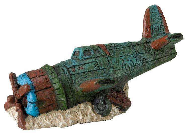 Грот для аквариума TRIXIE Airplane Wrecks Обломки самолета, полиэфирная смола, 8см 6шт фото