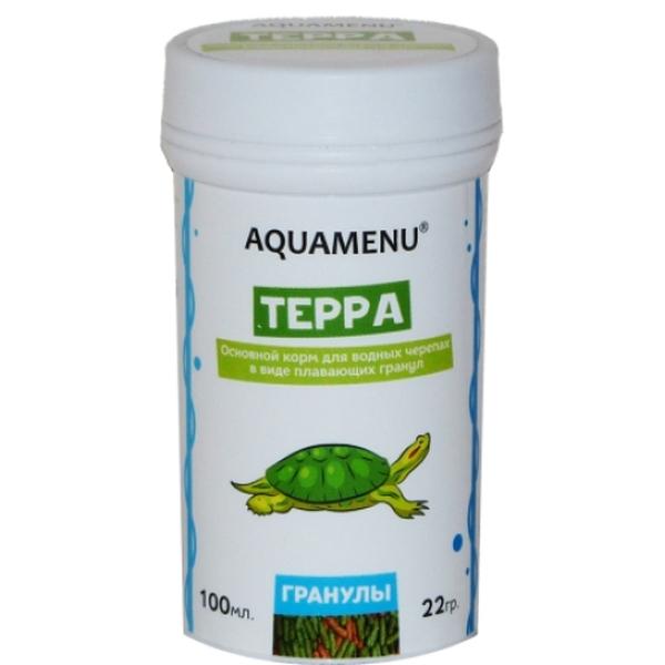 Корм для водных черепах Аква Меню Терра