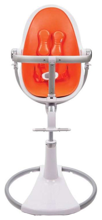 Купить Стульчик для кормления Bloom Fresco Chrome White white, оранжевый, Стульчики для кормления