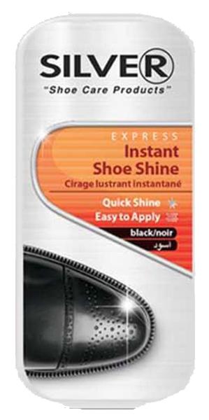 Мини губка для обуви Silver мгновенный блеск