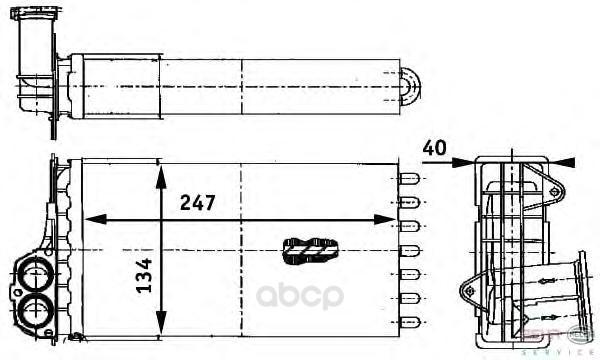 Теплообменник, отопление салона легковой автомобиль Hella 8FH351311