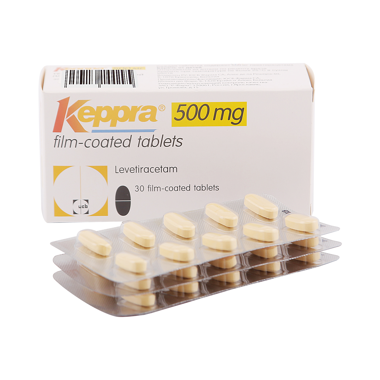 Кеппра таблетки, покрытые оболочкой 500 мг 30 шт.