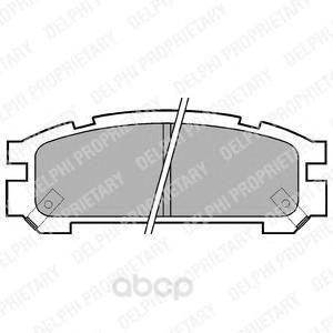 Тормозные колодки дисковые DELPHI LP814 фото