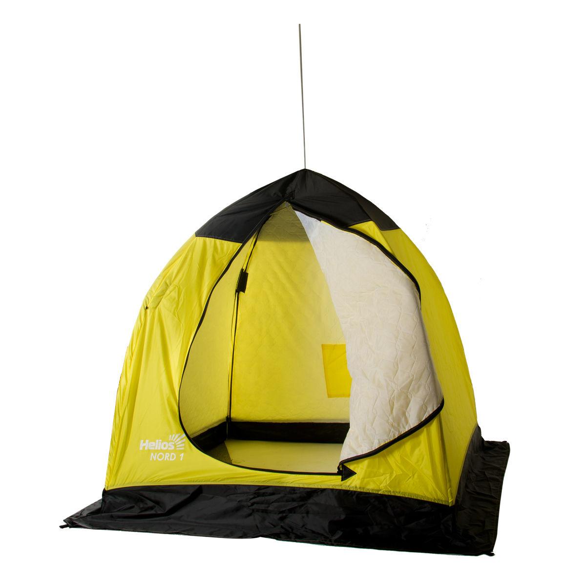 Палатка-автомат Helios Nord U одноместная желтая