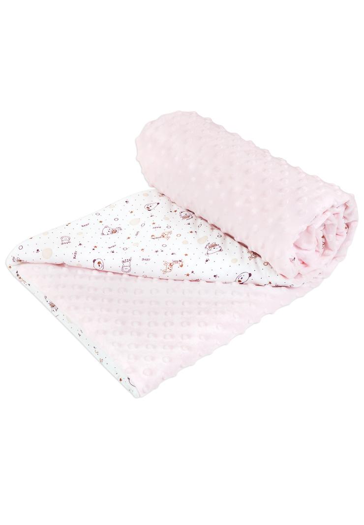 Плед детский Сонный гномик 570/2 Горошек розовый