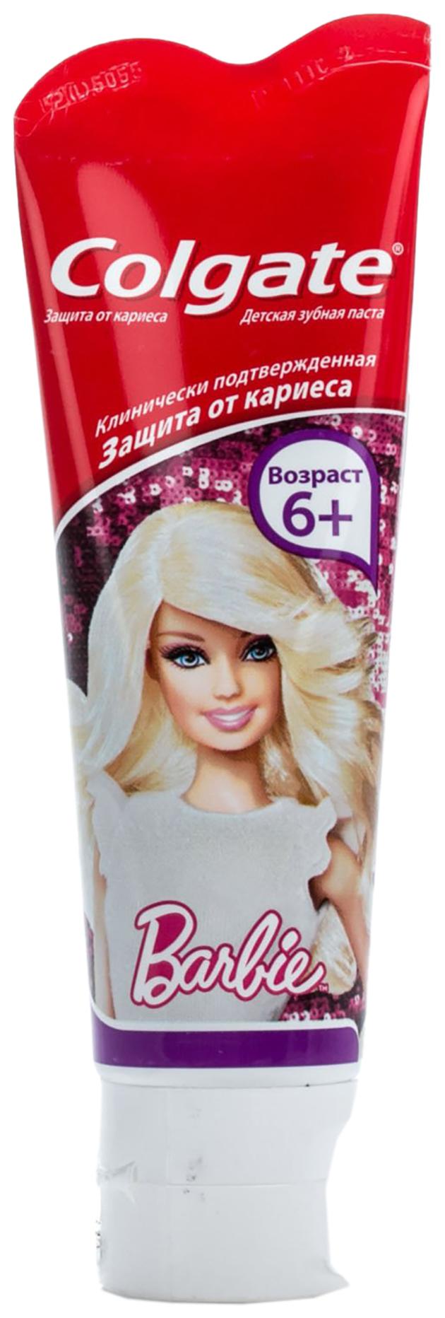 Купить Детская зубная паста Colgate Барби 75 мл, Детские зубные пасты