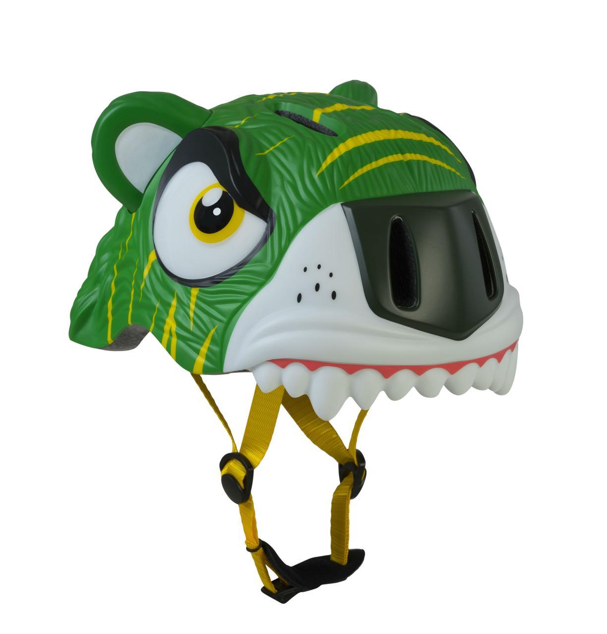 Купить Шлем защитный детский Crazy Safety 2017 Green Tiger зелёный,