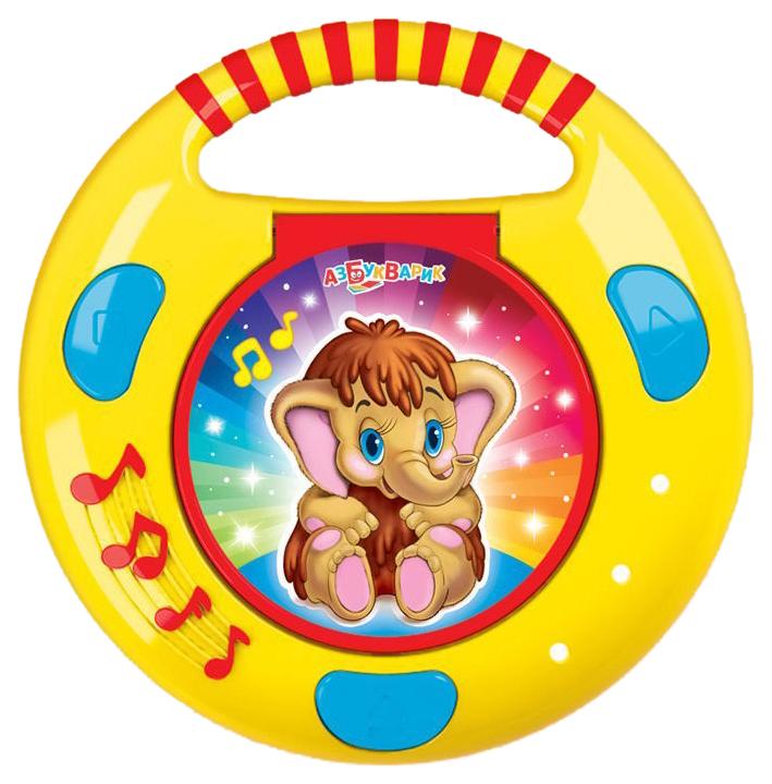 Интерактивная игрушка Азбукварик CD-плеер с огоньками Песенки и сказки 087-5