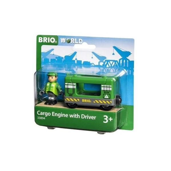 Купить BRIO Поезд технической службы с машинистом деревянной железной дороги БРИО 33894, Детские железные дороги
