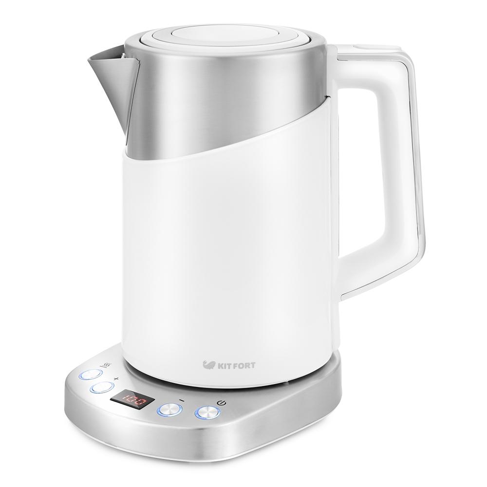Чайник электрический Kitfort КТ-660-1 Silver/White