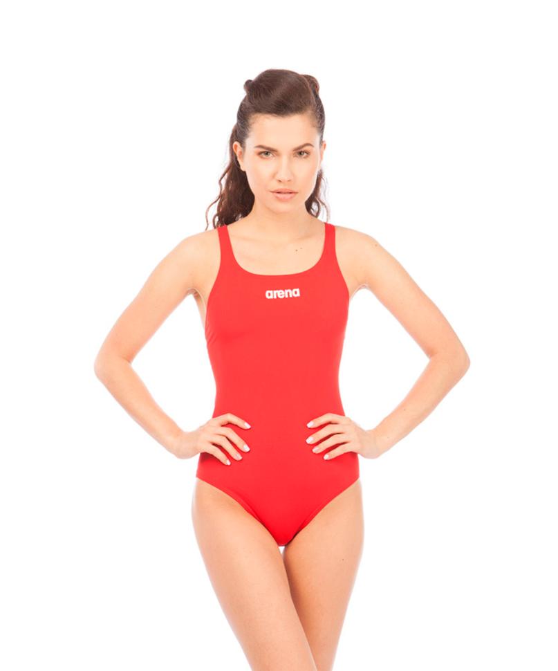 Слитный купальник Arena Solid Swim Pro, red/white,