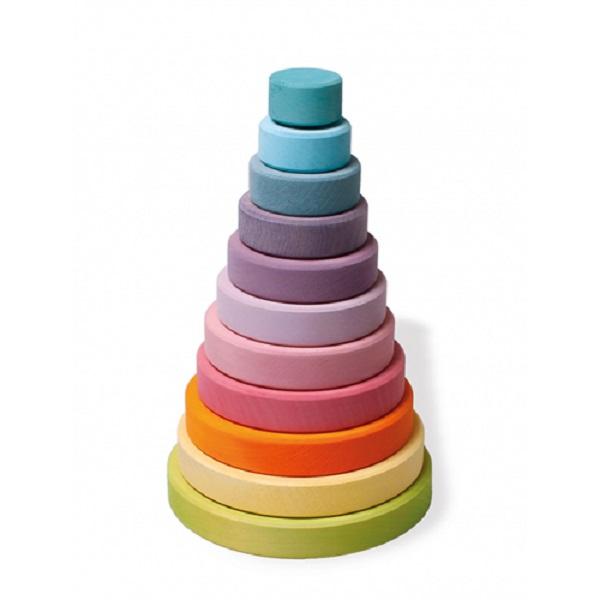 Купить Пирамидка Grimm's Большая Пастельного цвета 11001, Grimms, Сортеры