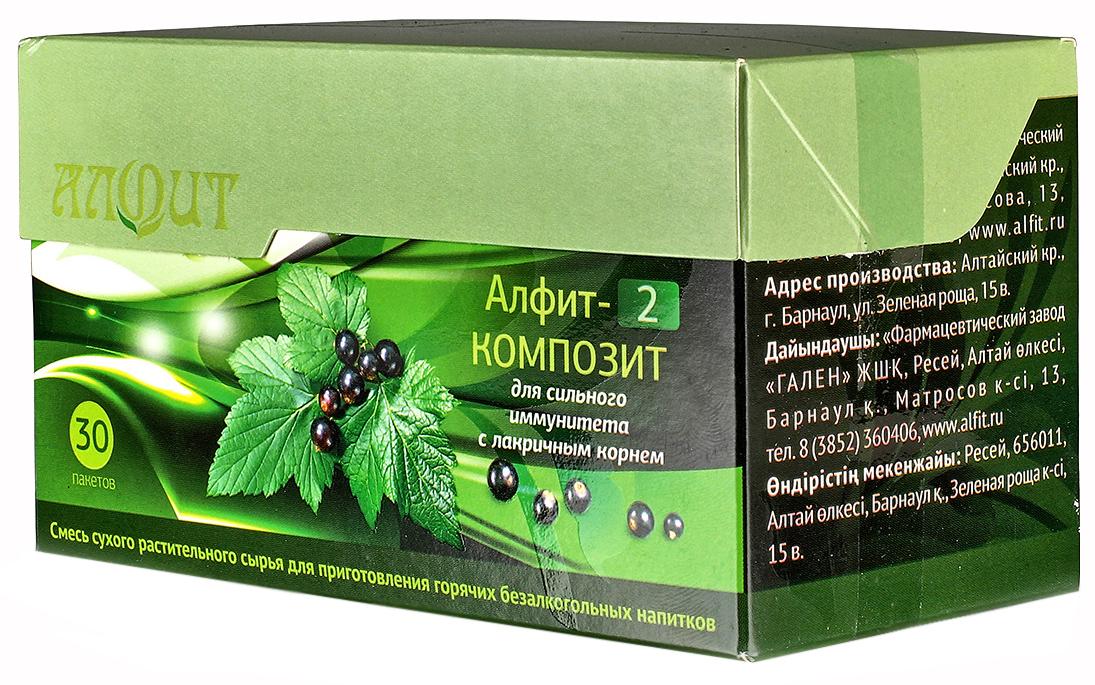 Купить Фитосбор Алфит-2 Композит Для сильного иммунитета с лакричным корнем, 30 ф/п х 2 г, Фитосбор Алфит-2 композит для сильного иммунитета с лакричным корнем ф/п 2 г 30 шт.
