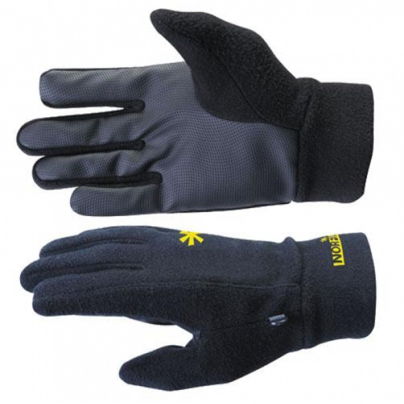 Перчатки мужские Norfin Storm, черные/желтые, L