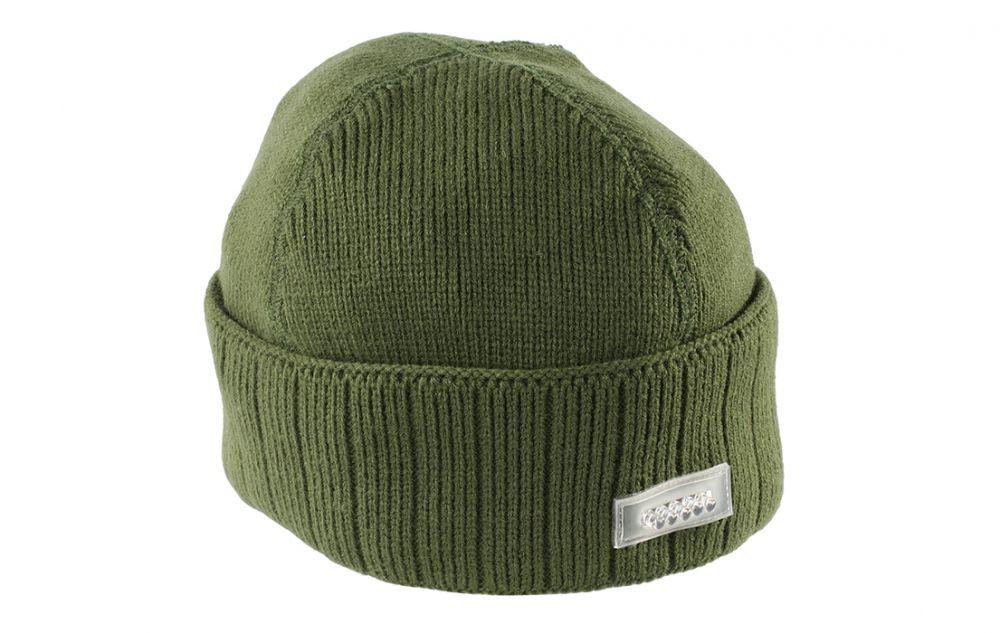 Шапка мужская Mikado UM ULED04, зеленая,