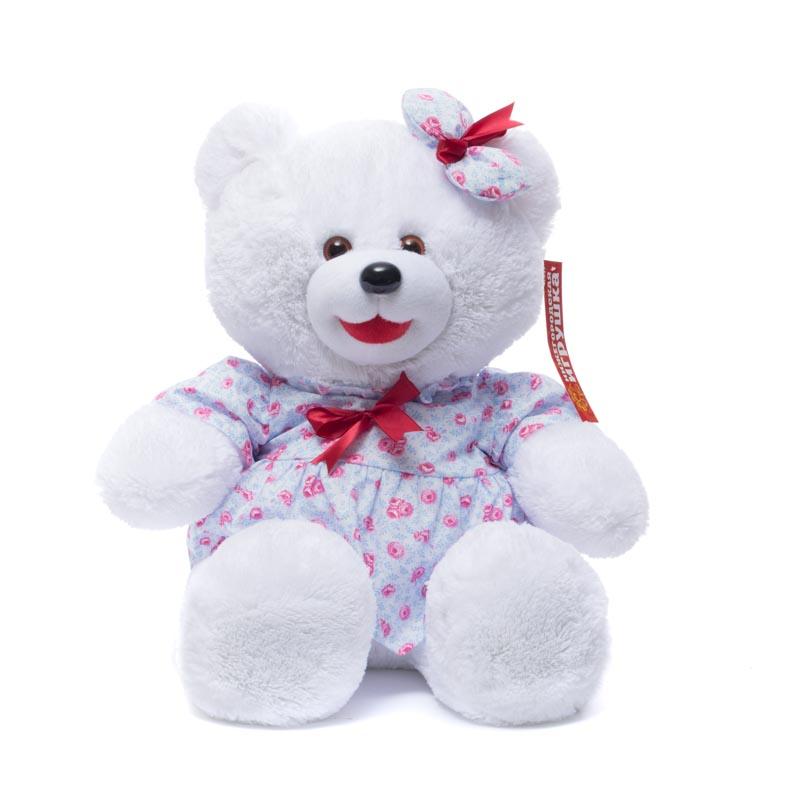 Купить Мягкая игрушка Медведь в платье сидит 55 см Нижегородская игрушка См-380-5сд, Мягкие игрушки животные