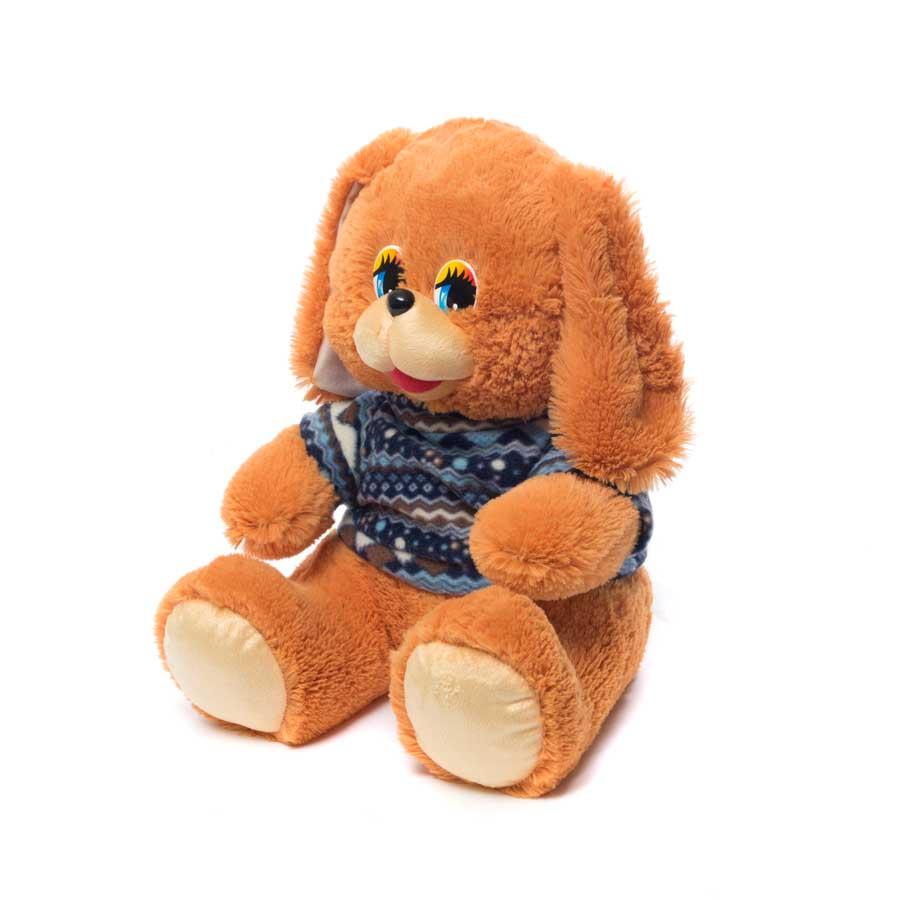 Купить Мягкая игрушка Собачка в кофте сидит мал. 42 см Нижегородская игрушка См-702-5, Мягкие игрушки животные