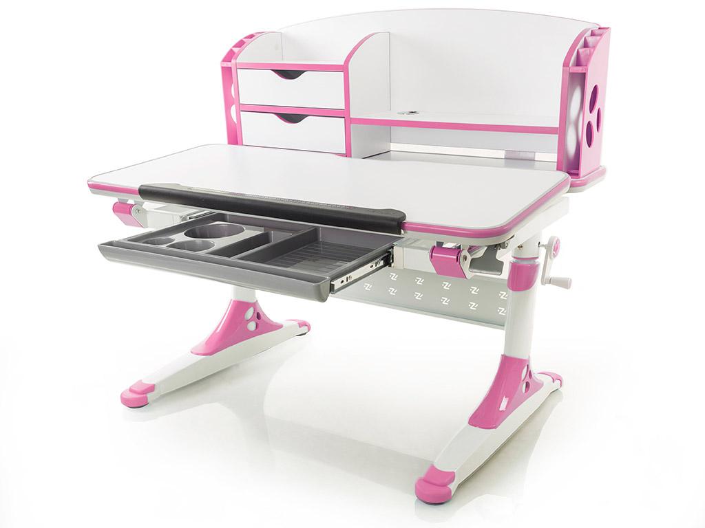 Стол детский Mealux Aivengo-M бело-розовый