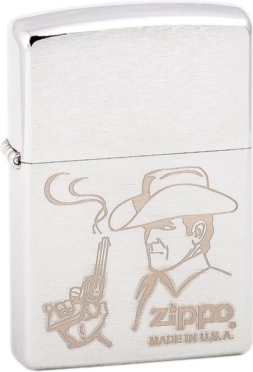 Зажигалка Zippo №200 Cowboy Brushed Chrome