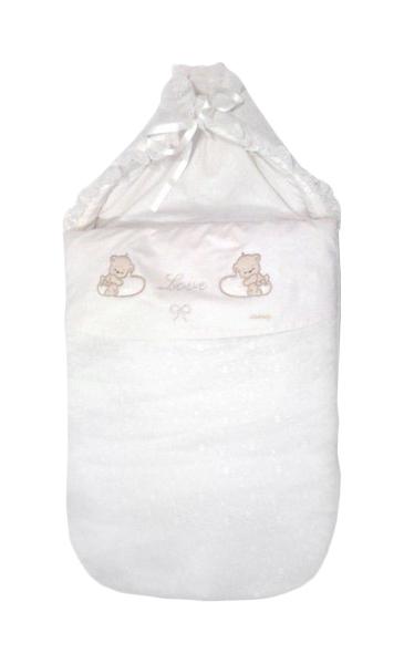 Конверт для новорожденных Italbaby Love белый