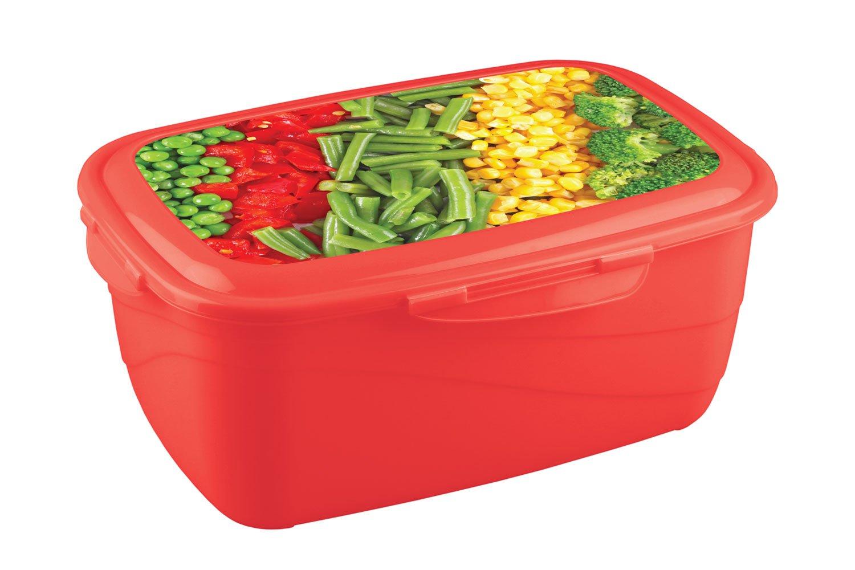 Контейнер для хранения пищи Phibo Click&Lock Для продуктов с декором 4311945 1,8 л фото
