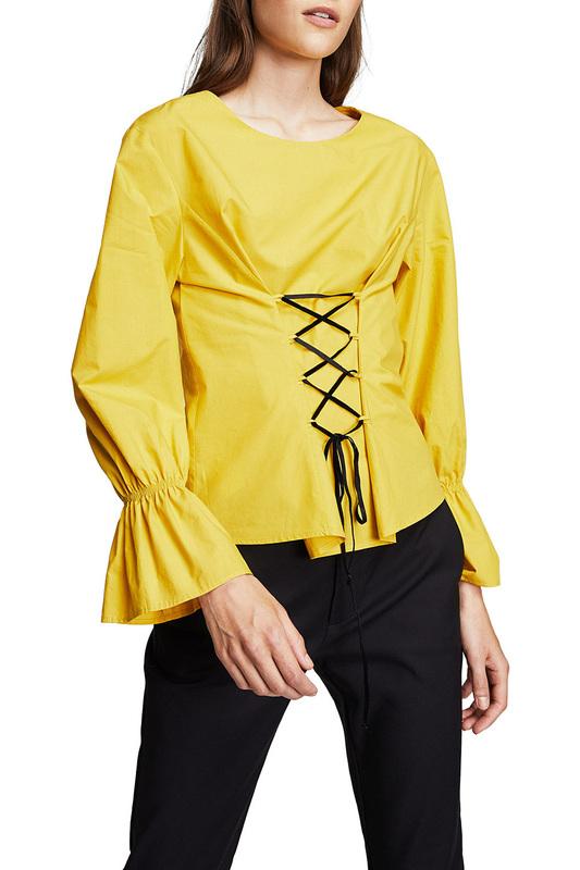 Блуза женская MANGO желтая M