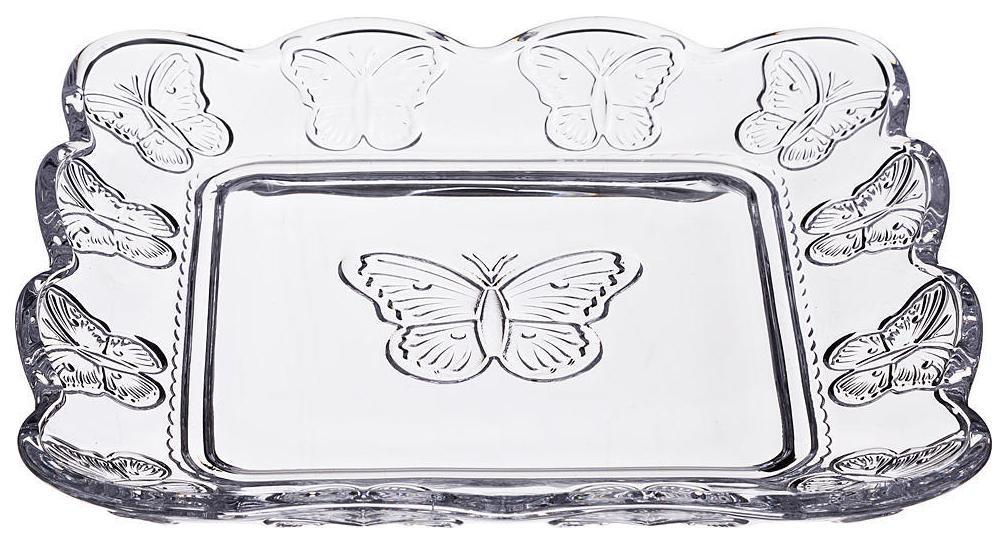 Блюдо Muza Бабочки 20x20 см