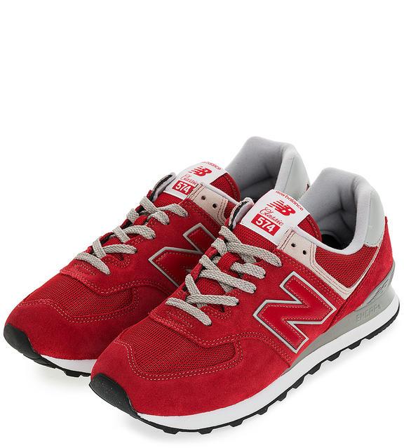 Мужские кроссовки New Balance ML574ERD/D красные/серые 45.5