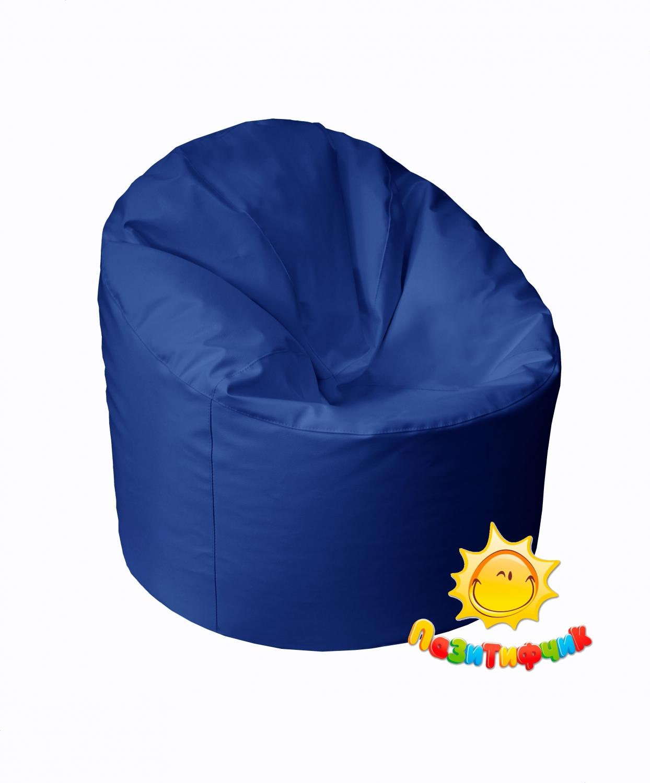 Кресло-мешок Pazitif Пенек Пазитифчик, размер M, экокожа, синий фото