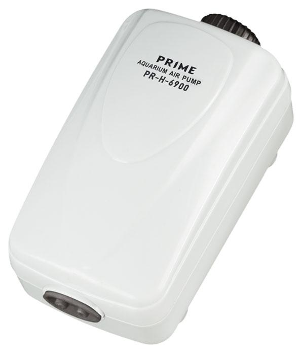 Аквариумный компрессор PRIME двухканальный регулируемый, 2,5Вт, 2*2л/мин