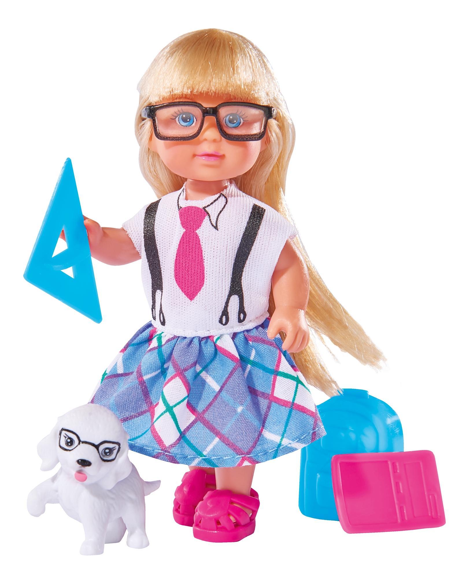 Кукла Simba Еви и школьные принадлежности, 12 см