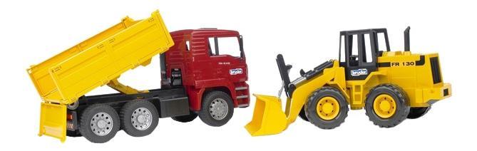 Купить Самосвал Bruder MAN с колёсным бульдозером fr 130, Игрушечный транспорт Bruder