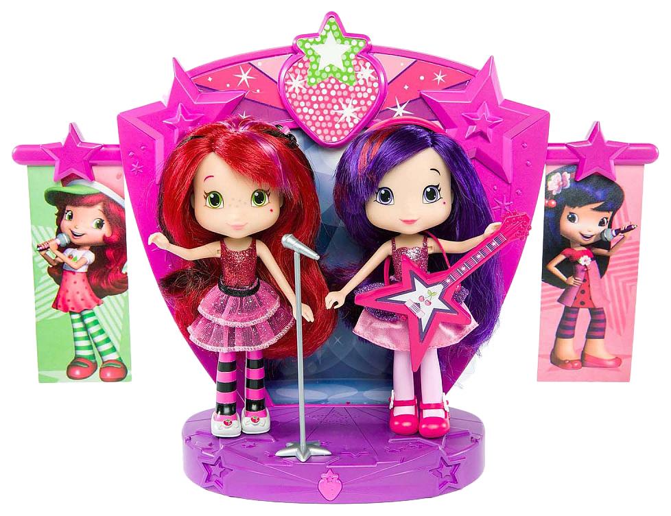 Купить Кукла Strawberry Shortcake Шарлотта Земляничка и Вишенка на сцене 15 см 12245, Классические куклы
