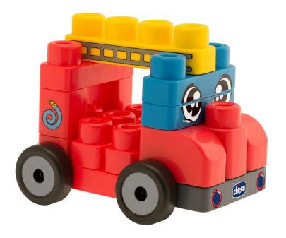 Конструктор для малышей Chicco Набор из строительных блоков Машины 7157