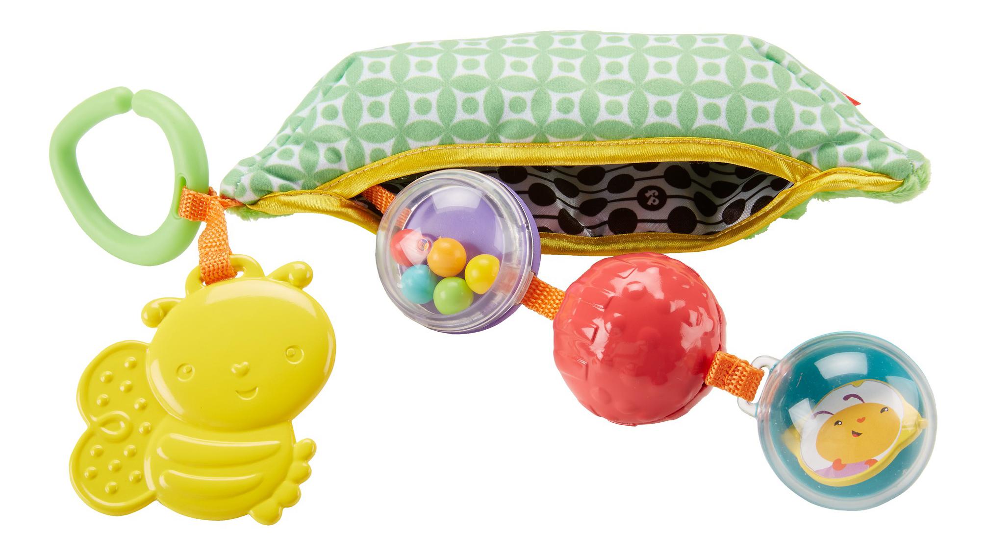 Купить Sensory Sweet Peas, Подвесная игрушка Fisher-Price Горошек DRD79, Everything Baby, Подвесные игрушки