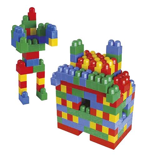 Купить Luxurious Super Blocks №3, Конструктор Pilsan Luxurious Super Blocks № 3 80 деталей в ведре, Конструкторы пластмассовые