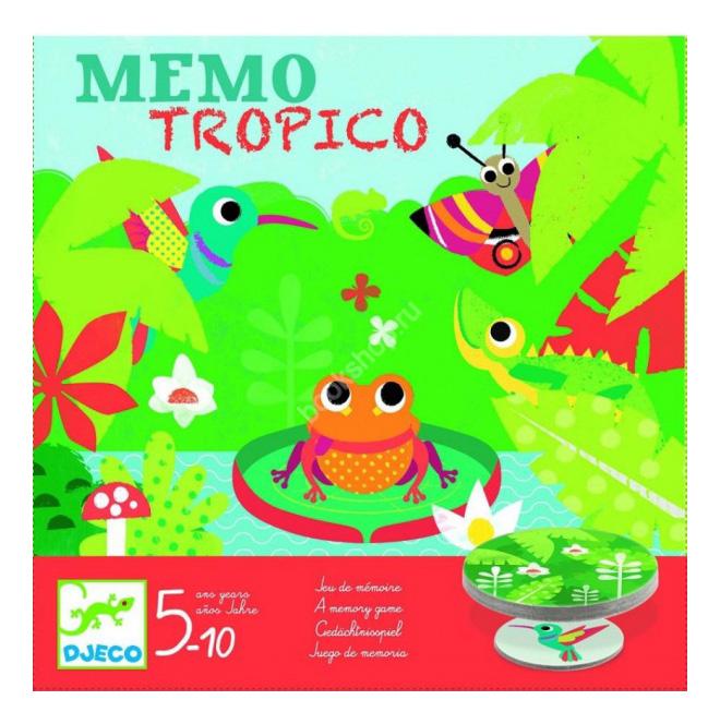 Купить Семейная настольная игра Djeco Тропики, Семейные настольные игры