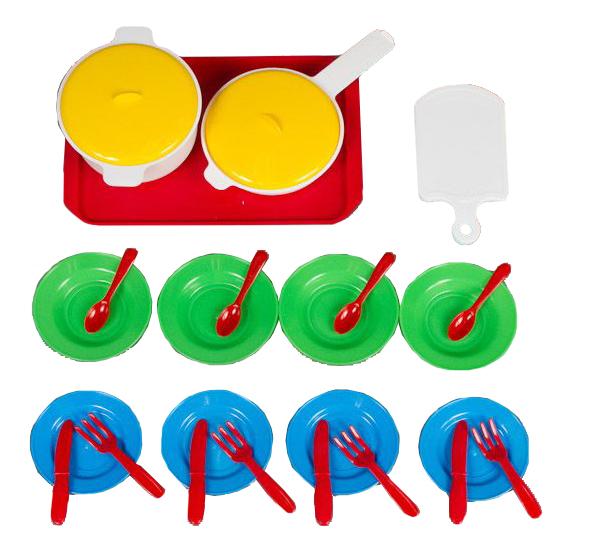 Набор посуды игрушечный Бытпласт Игрушечный кухонный набор 26 предметов фото