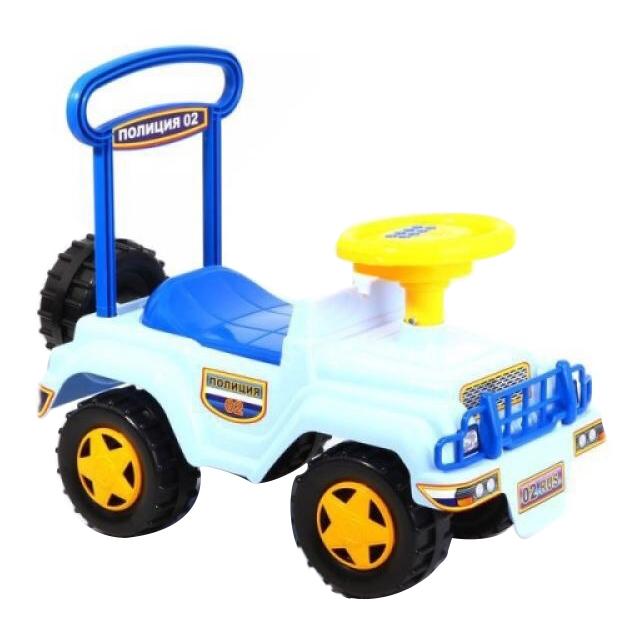 Купить Каталка детская Автомобиль-Каталка Совтехстром «Полиция» (Музыкальный Руль), Машинки каталки