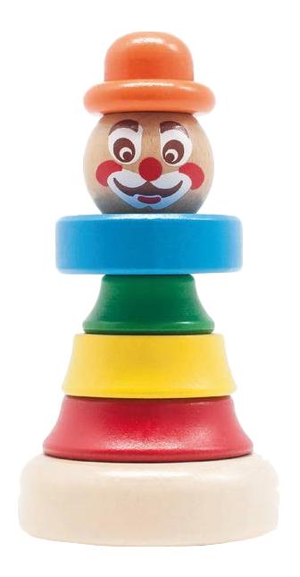 Пирамидка Игрушки из дерева Клоун 1.