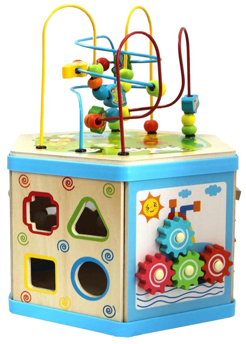 Купить Игровой набор База игрушек Деревянный куб-лабиринт 7 в 1 7038, БАЗА ИГРУШЕК, Игровые наборы