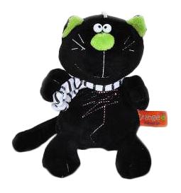 Мягкая игрушка Orange Toys Кот Батон черный 15 см
