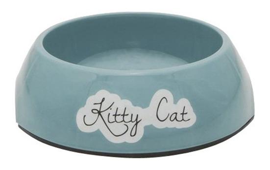 Одинарная миска для кошек Beeztees, пластик, голубой,