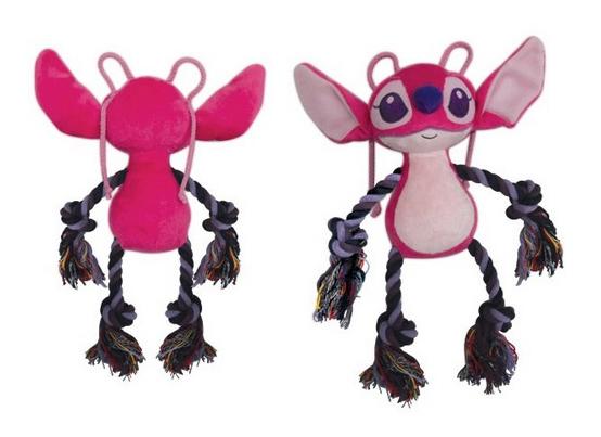 Мягкая игрушка для собак Triol Angel с канатом, розовая, 15 см