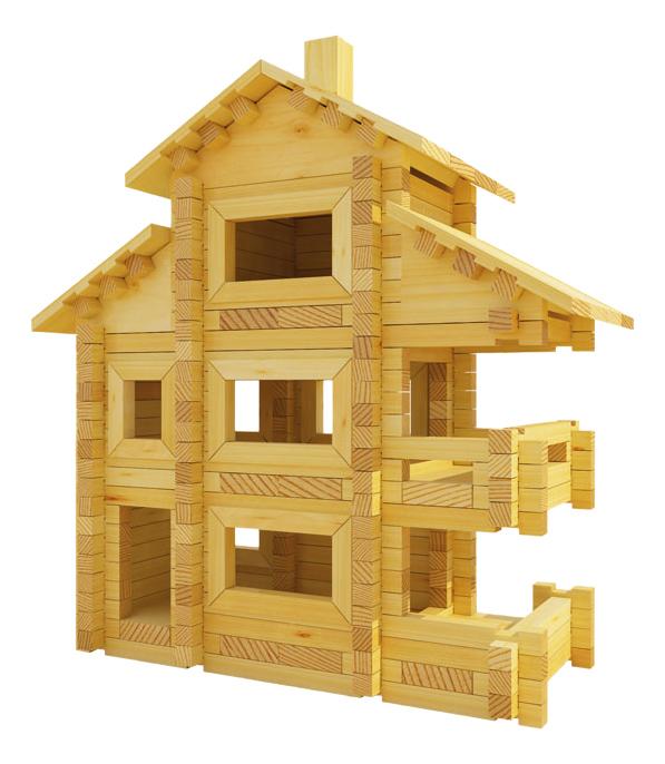 Конструктор деревянный Лесовичок Разборный домик №5