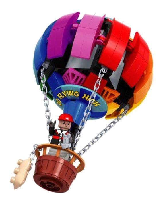 Купить Конструктор пластиковый Ausini Город - Воздушный Шар 195 деталей, Конструкторы пластмассовые