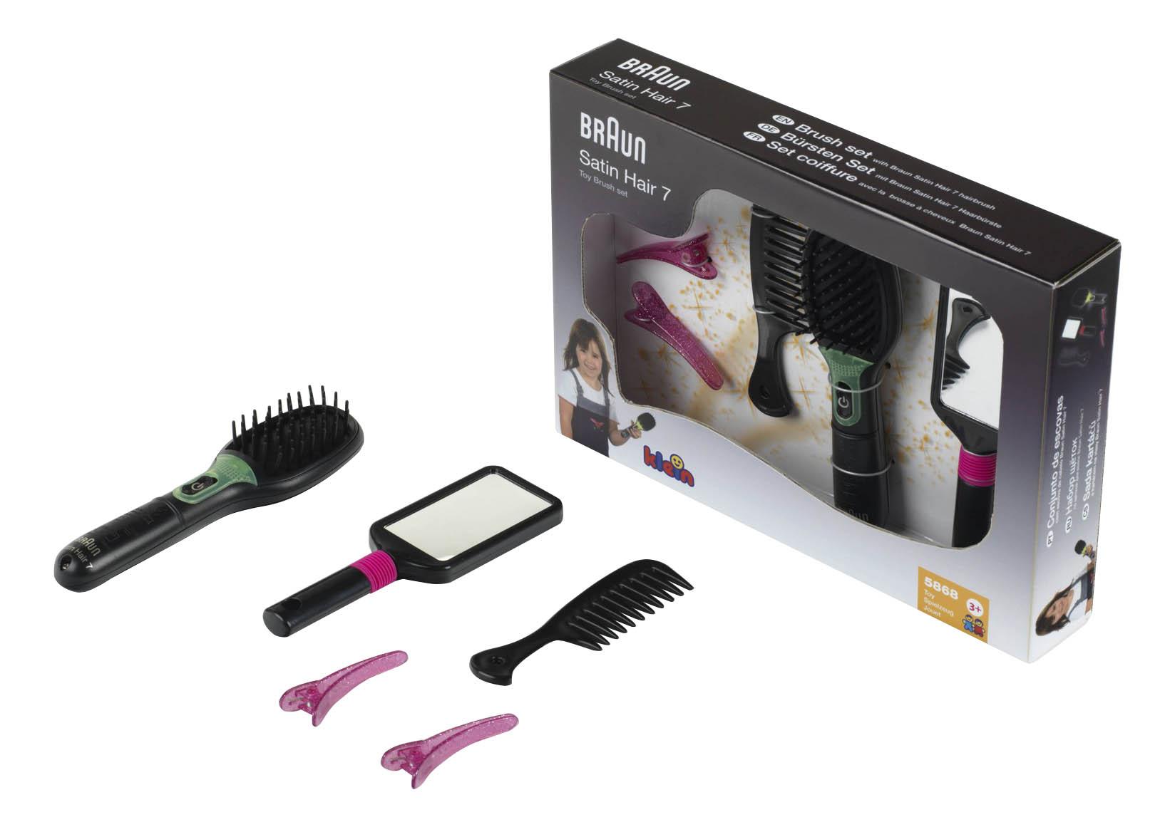 Купить Набор парикмахера игрушечный Klein Braun Satin Hair 7, Детские наборы парикмахера