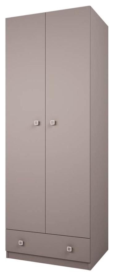 Купить Детский шкаф двухсекционный Polini Simple с 1 ящиком, серый, Шкафы в детскую комнату