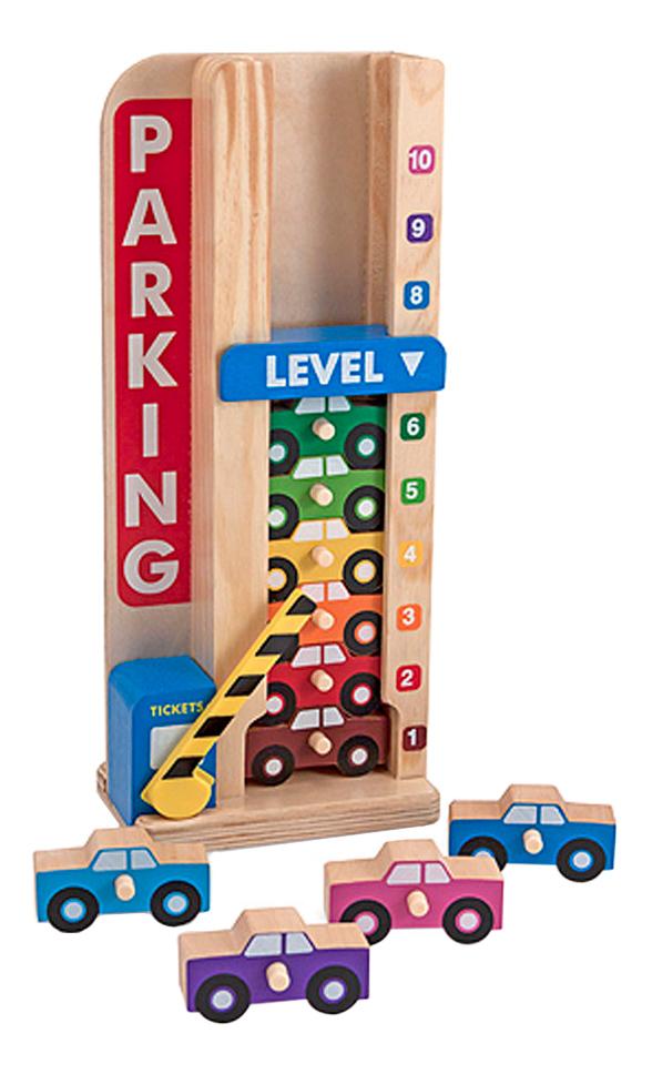 Купить Деревянная игрушка для малышей Melissa & Doug Wooden Stack & Count Parking Garage, Развивающие игрушки