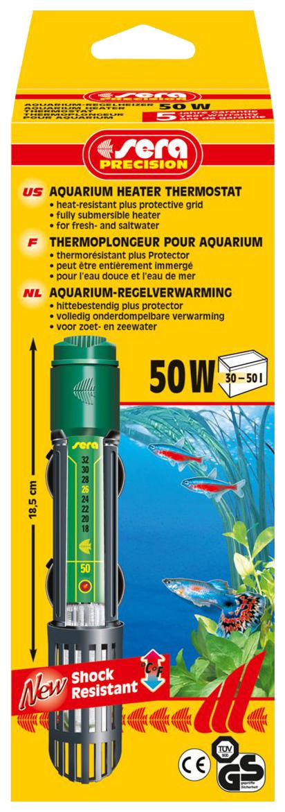 Обогреватель погружной для аквариума Sera Precision, кварцевое